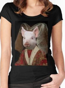 Queen for a Day - Piglet Composite Women's Fitted Scoop T-Shirt