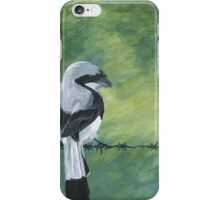 Shrike on a Wire iPhone Case/Skin