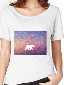 Beary Snowy in Purple Women's Relaxed Fit T-Shirt