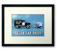 Squad car envy! Framed Print