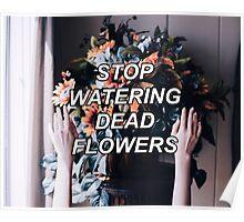 STOP WATERING DEAD FLOWERS Poster