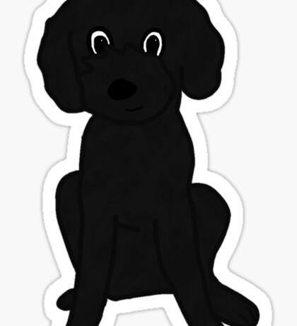 Cute Lil' Black Poodle Mix :3 Sticker