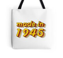 Made in 1945 (Yellow&Red) Tote Bag
