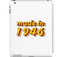 Made in 1946 (Yellow&Red) iPad Case/Skin