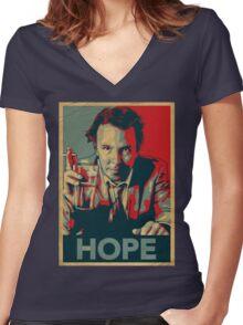 DOUG STANHOPE Women's Fitted V-Neck T-Shirt