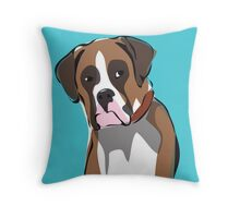 illustration of a BOXER Throw Pillow