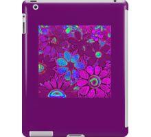 Psychedelic Purple Garden of Flowers - Mosaics iPad Case/Skin