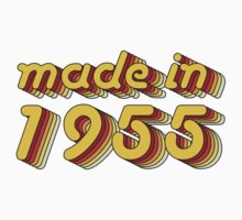 Made in 1955 (Yellow&Red) Kids Clothes