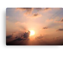 Cloudy Pink Sky Canvas Print