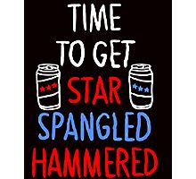 TIME TO GET STAR SPANGLED HAMMERED Photographic Print