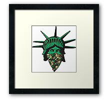Statue of Liberty Bandana Framed Print