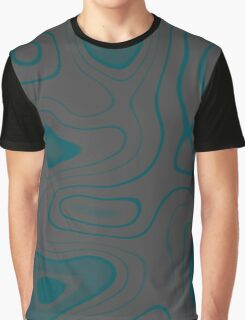 Teal and Gray Graphic T-Shirt