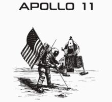 Apollo 11 - Black ink by Djidiouf