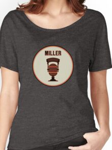 SF Giants HOF Announcer Jon Miller Pin Women's Relaxed Fit T-Shirt