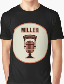 SF Giants HOF Announcer Jon Miller Pin Graphic T-Shirt