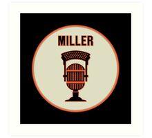 SF Giants HOF Announcer Jon Miller Pin Art Print