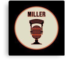SF Giants HOF Announcer Jon Miller Pin Canvas Print