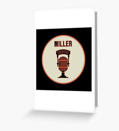 SF Giants HOF Announcer Jon Miller Pin Greeting Card