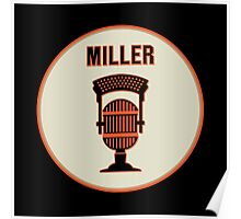 SF Giants HOF Announcer Jon Miller Pin Poster