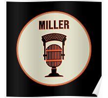 SF Giants HOF Announcer Jon Miller Pin Poster