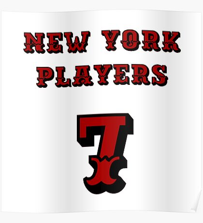 New York Players Poster