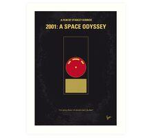 No003 My 2001 A space odyssey 2000 minimal movie poster Art Print