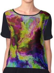 Painted Flowers Chiffon Top