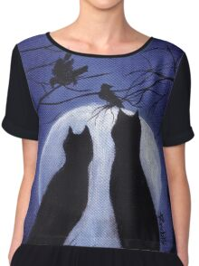 Listen to the Silence at Night Chiffon Top
