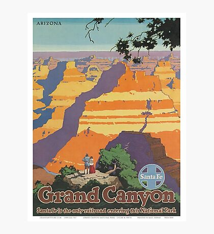 Vintage poster - Grand Canyon Photographic Print