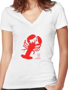 You Are My Lobster (Left) Couples Design Women's Fitted V-Neck T-Shirt