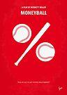 No191 My Moneyball minimal movie poster by Chungkong