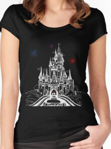 Mouse in Love at Midnight Women's Fitted Scoop T-Shirt