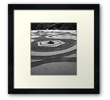Zen Sand Garden Framed Print
