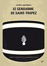 No186 My Le Gendarme de Saint-Tropez minimal movie poster by Chungkong