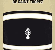 No186 My Le Gendarme de Saint-Tropez minimal movie poster by Chungkong