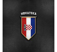 Croatia Pennant with high quality leather look Photographic Print