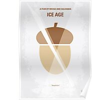 No041 My Ice Age minimal movie poster Poster