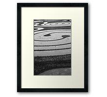 Spirals in the sand Framed Print