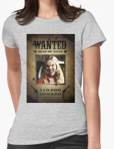 Buffy Harmony Wanted 3 Womens Fitted T-Shirt