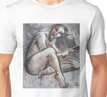 Woman Combing Her Hair Unisex T-Shirt