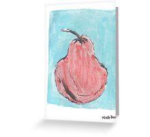 Pêra vermelha Greeting Card