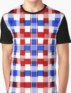 Patriotic Squares Graphic T-Shirt