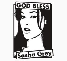 GOD BLESS Sasha Grey by allmyshitdesign