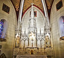 Loretto Chapel Altar Wide C by Robert Meyers-Lussier
