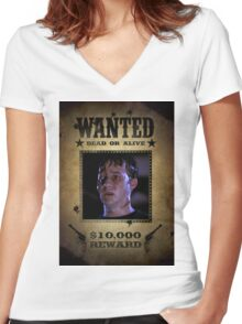 Buffy Jonathan Wanted (The First) Women's Fitted V-Neck T-Shirt