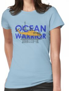 Ocean Warrior, S-76 helicopter shirt Womens Fitted T-Shirt