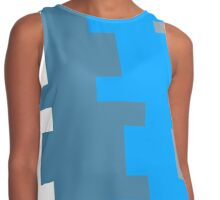 Puzzled Blue Contrast Tank