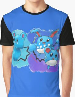 Azurill, Marill & Azumarill Graphic T-Shirt