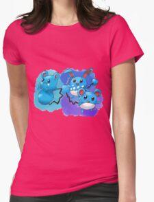 Azurill, Marill & Azumarill Womens Fitted T-Shirt