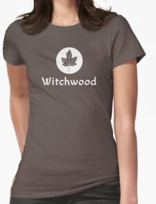 Witchwood Leaf (White) Womens Fitted T-Shirt